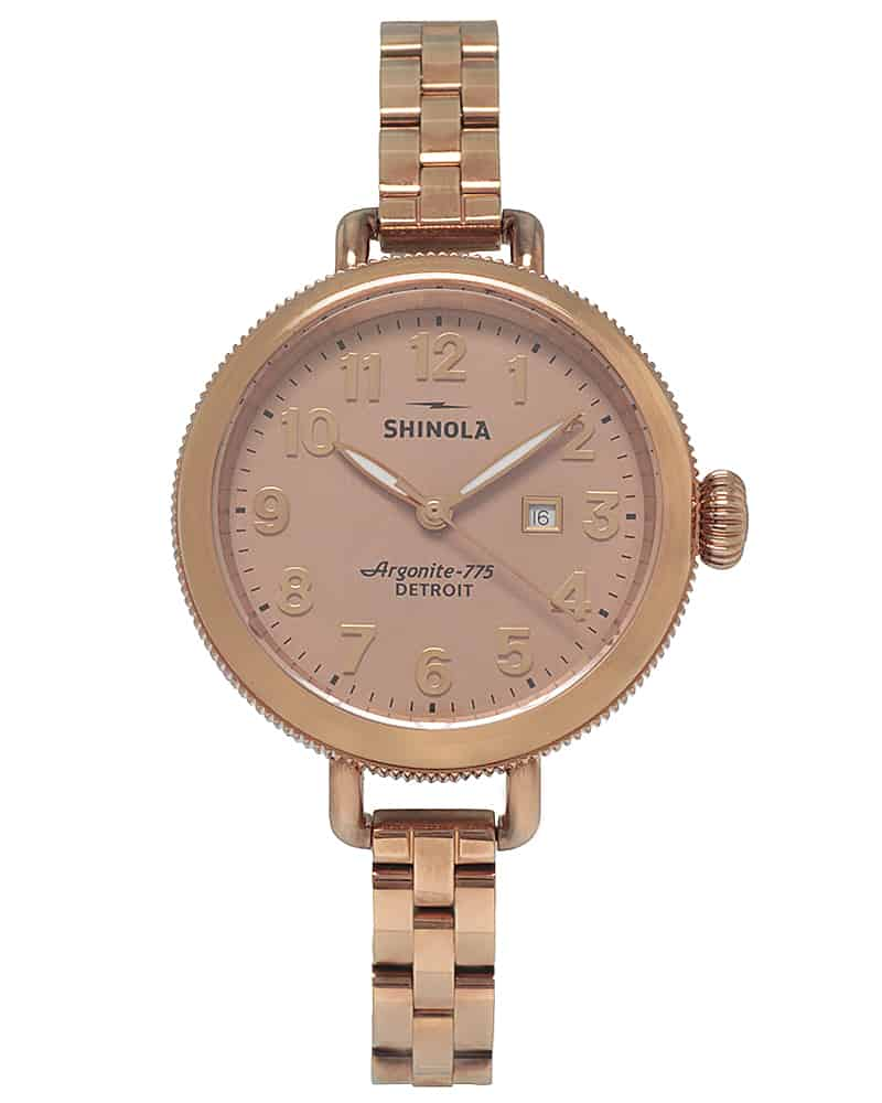 Shinola The Birdy 34mm Pvd Coated Stainless Steel Quartz Ladies Watch S0110000209