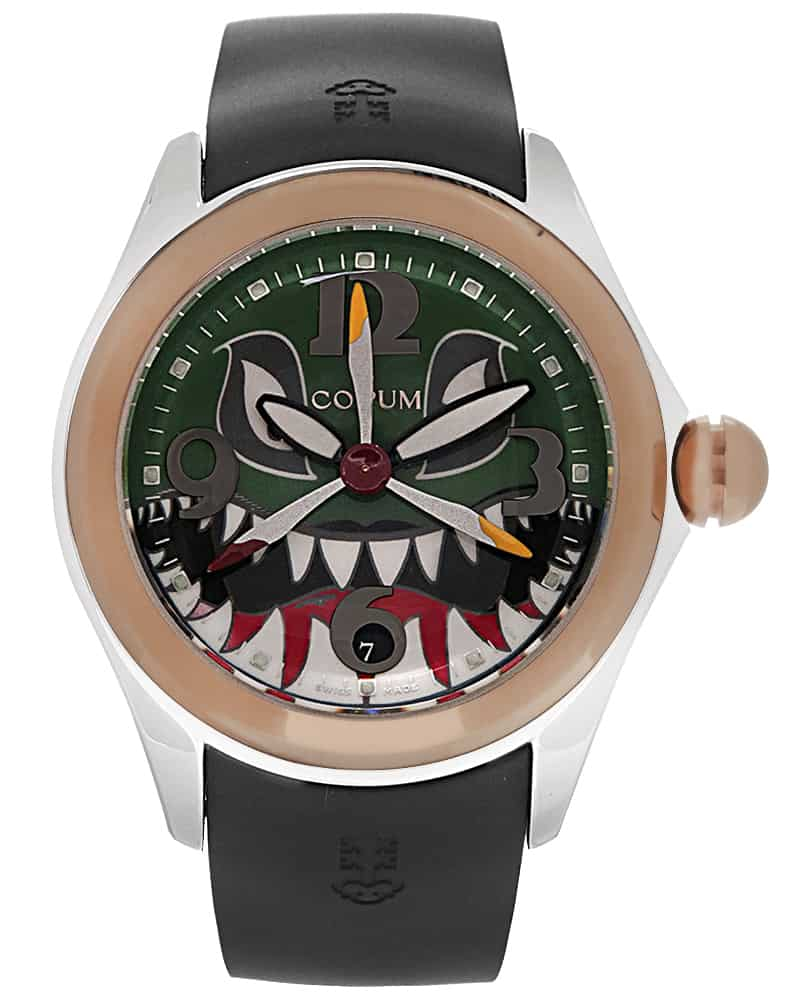 Corum Bubble Shark Dive Bomber 18k Rose Gold/stainless Steel Automatic Men's Watch 082.310.24/0371 SHARK