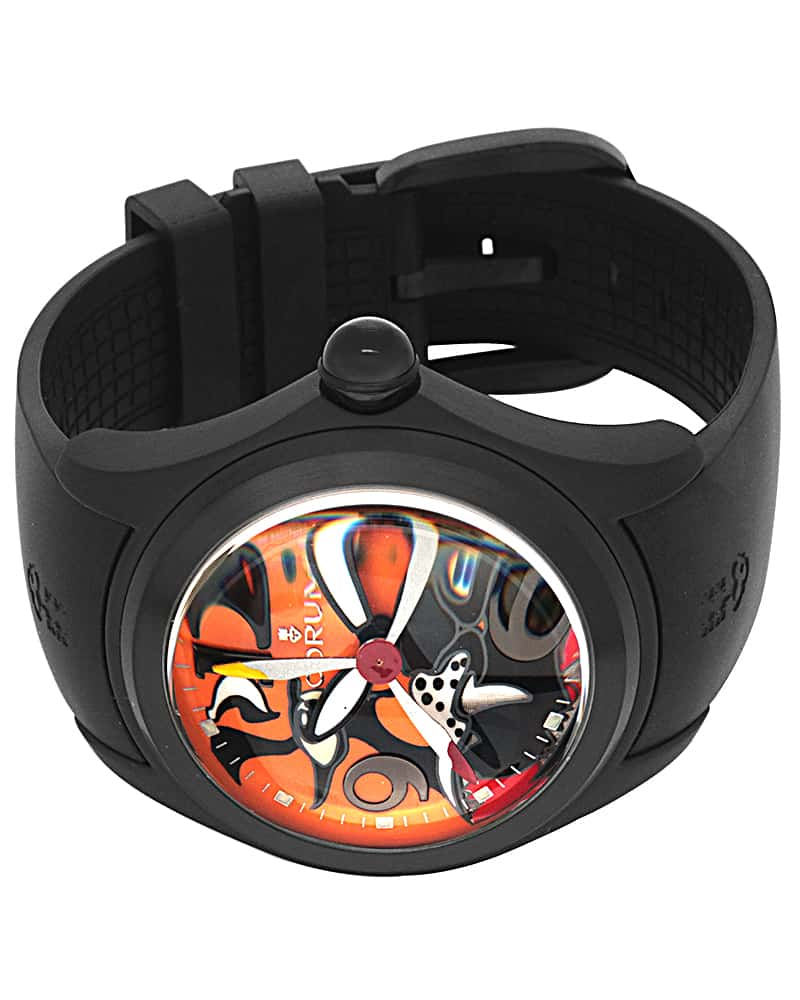 Corum Bubble 47 Tiger Pvdcoated Stainless Steel Automatic Men's Watch 082.310.98/0371 TIGER