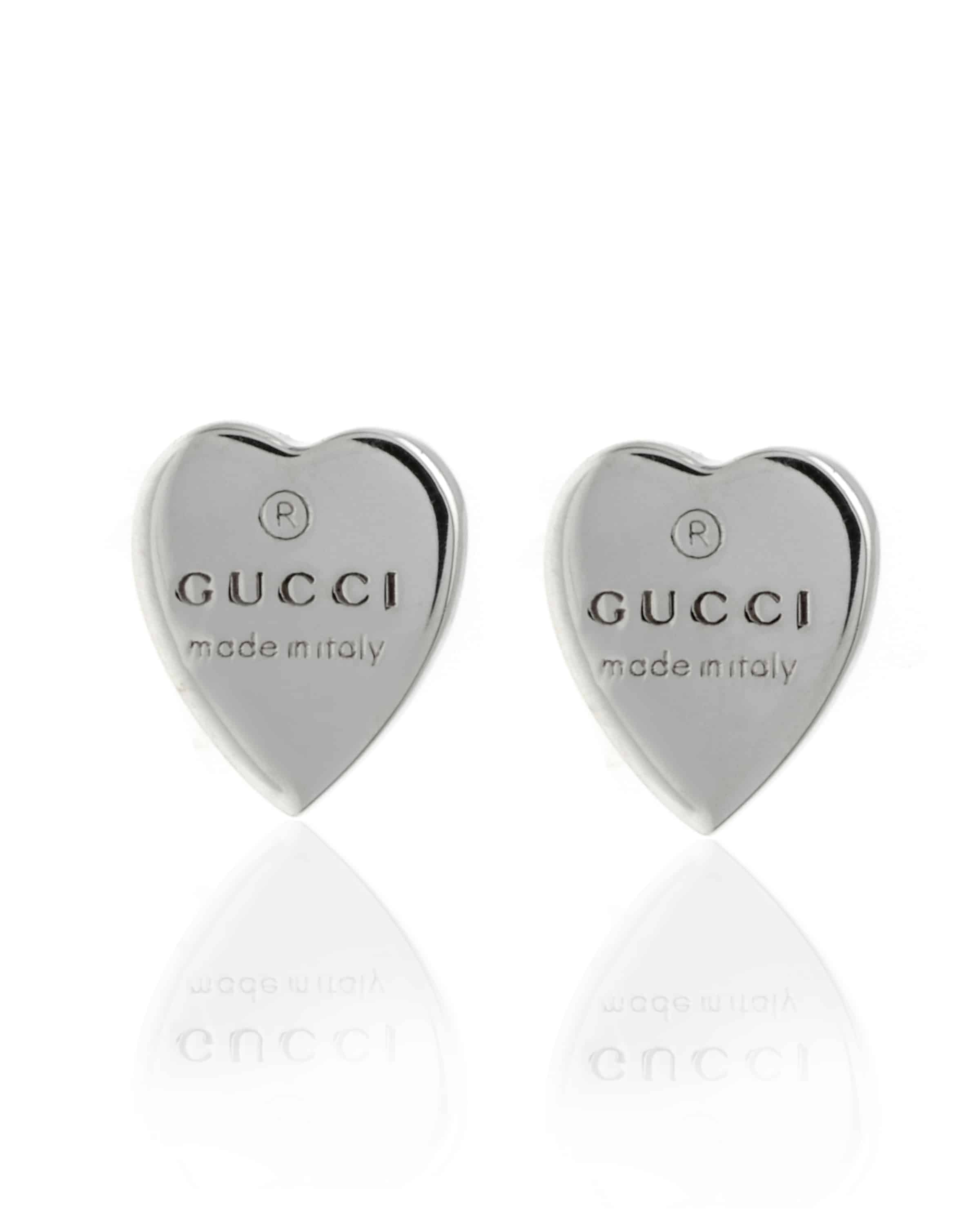 907ee9edabe ... Gucci Heart Sterling Silver Stud Earrings YBD22399000100U. Sale!  YBD22399000100U a  YBD22399000100U c  YBD22399000100U b. YBD22399000100U a