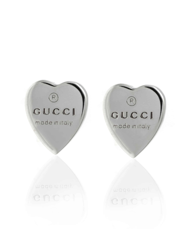 59c4bbeae Gucci Heart Sterling Silver Necklace & earrings YBH99999900400U ...