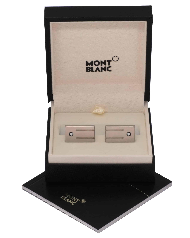 Montblanc -cufflinks Mast Rect 3-rings Motif 105888