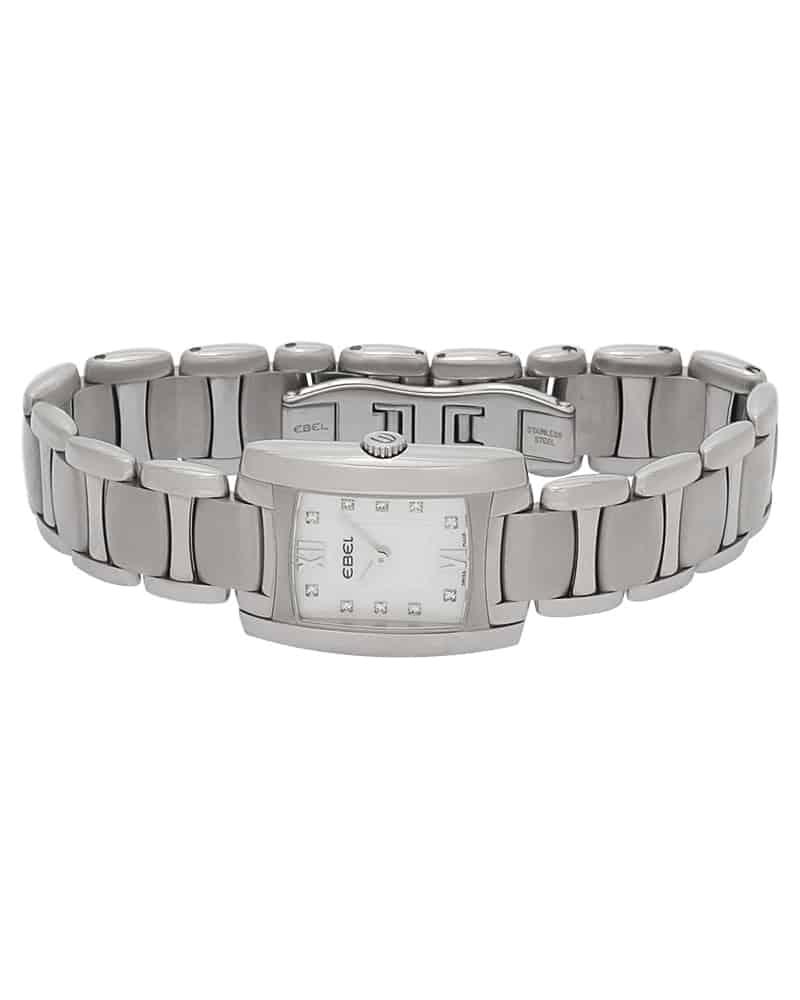 Ebel Brasilia Mini Diamond Mop Dial Stainless Steel Quartz Ladies Watch 1215605
