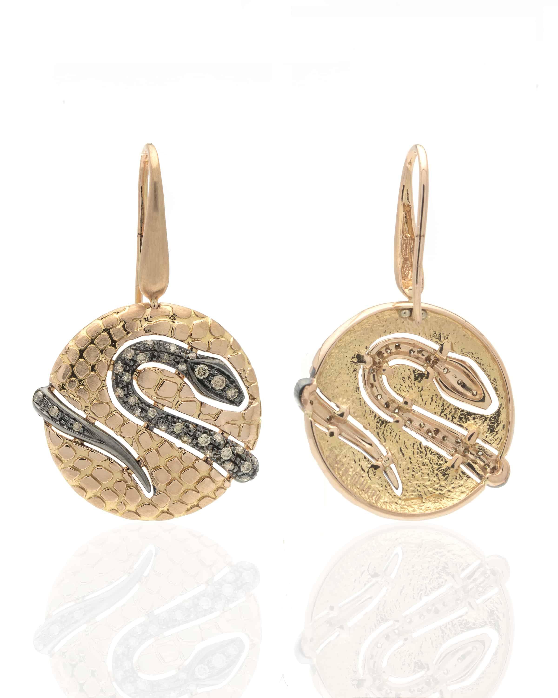 Piero Milano 18k Yellow Gold Diamond Drop Earrings M3315RB5BW