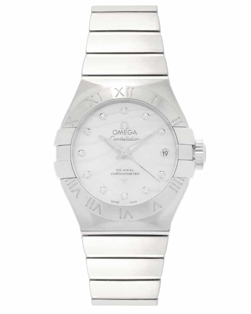 Omega Constellation Co Axial Diamond Date Automatic Ladies Watch 123.10.27.20.55.002