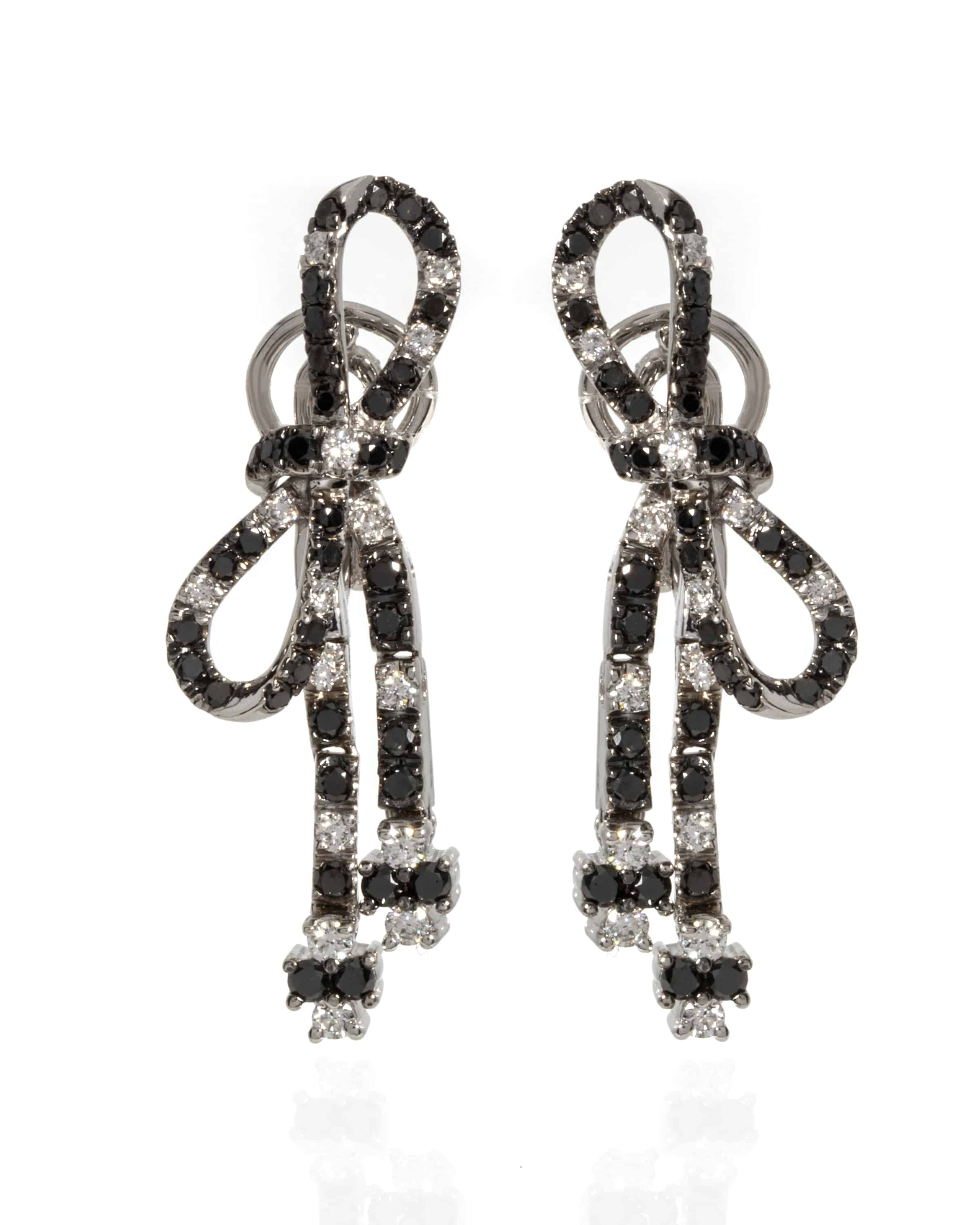 Crivelli 18k White Gold Diamond Drop Earrings 166-1769 - 02926130