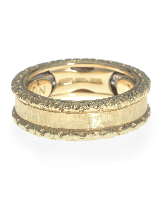 Roberto Coin 18k Yellow Gold And 18k White Gold Diamond Statement Ring Size 6. 359312AJ65X0