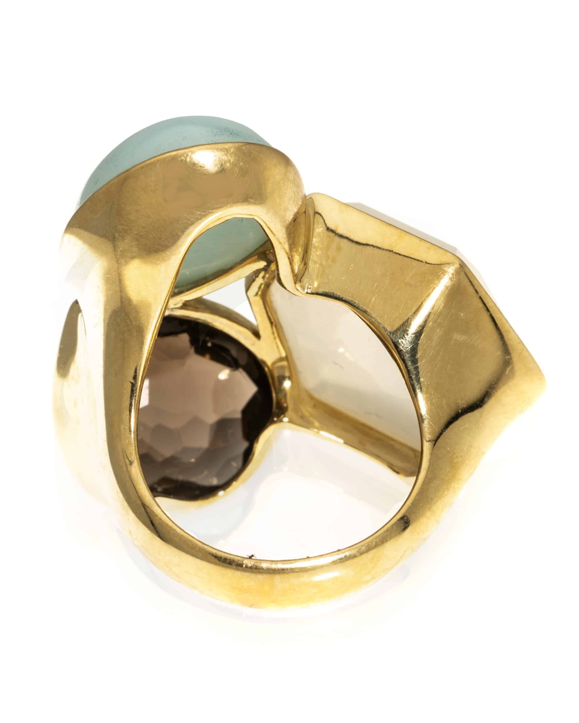 Ippolita Rock Candy 18k Yellow Gold Statement Ring Size 7. GR294CHAMB