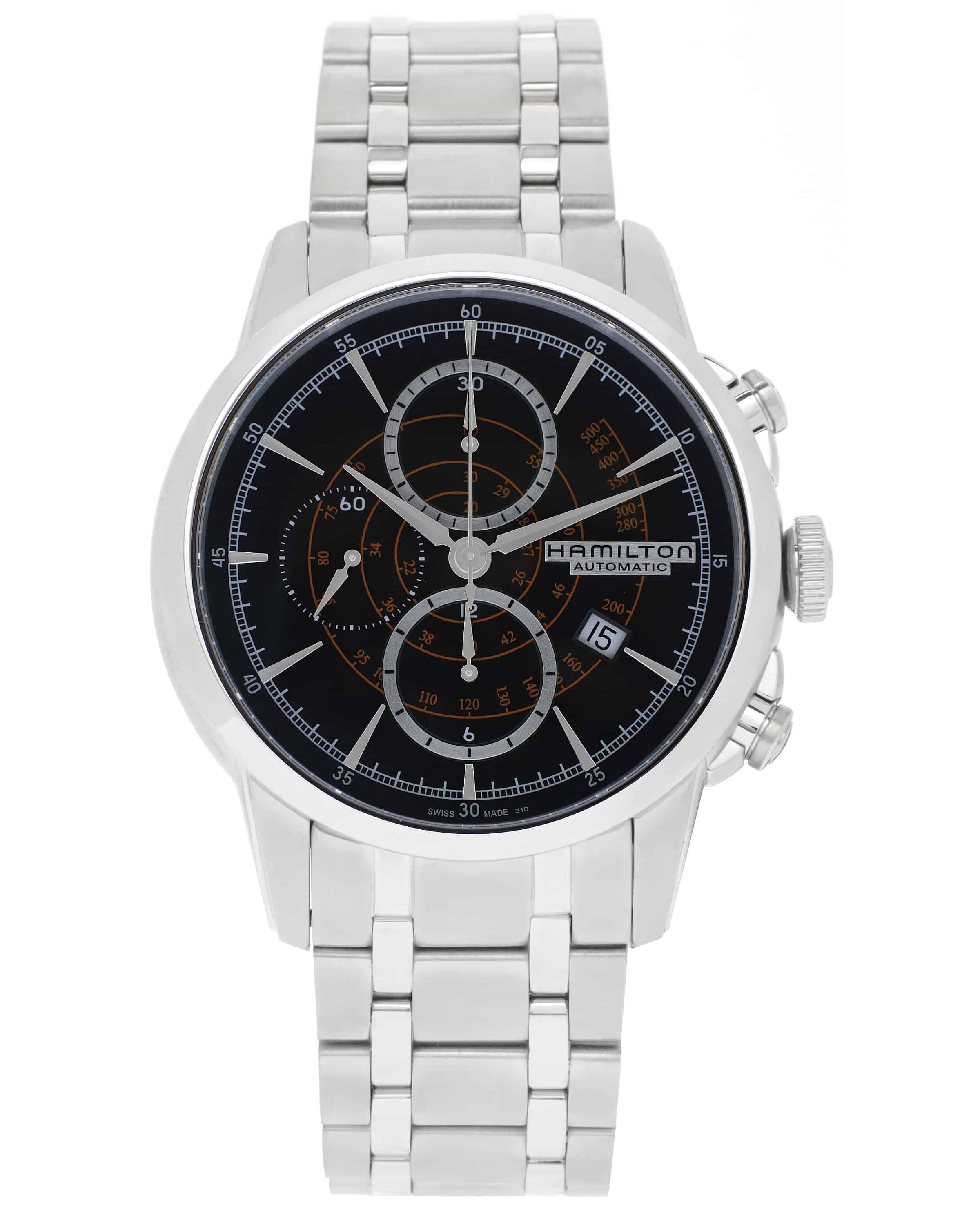 Hamilton Railroad Chronograph Stainless Steel Automatic Men's Watch H40656131