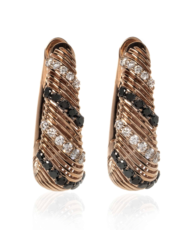 Crivelli 18k Rose Gold Diamond Huggie Earrings 168-375-3OR - 15696258