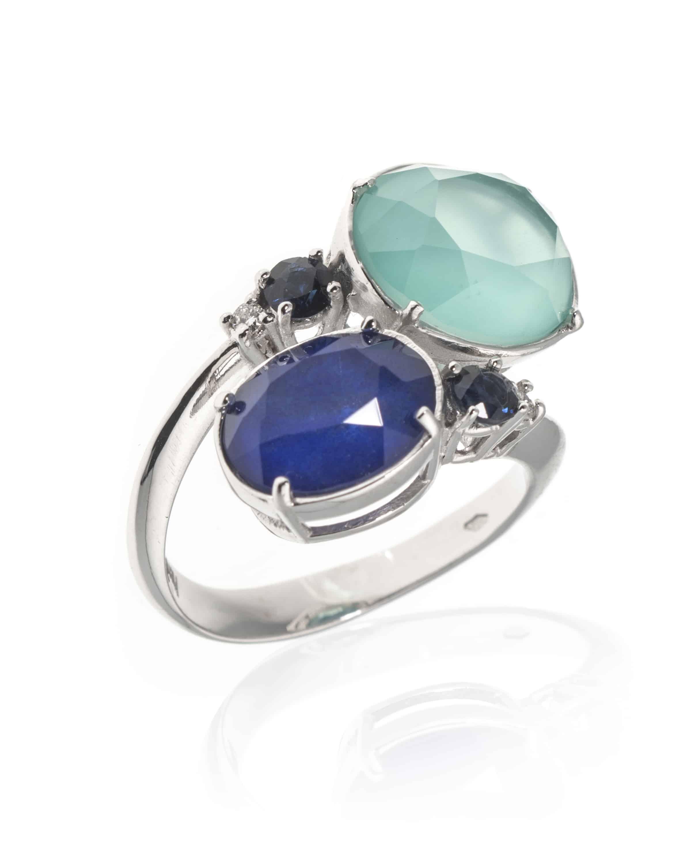 5dc8ccfc9ef621 Piero Milano 18k White Gold Diamond and Sapphire,Lapis,Quartz ...