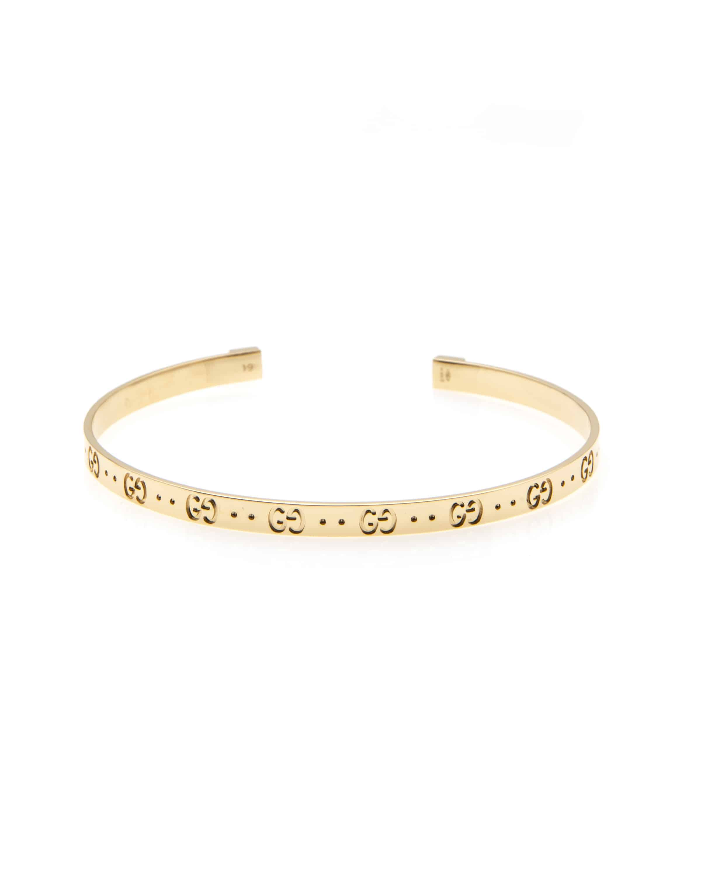 296c0101f Gucci Icon 18k Yellow Gold Bangle Bracelet | ShopWorn