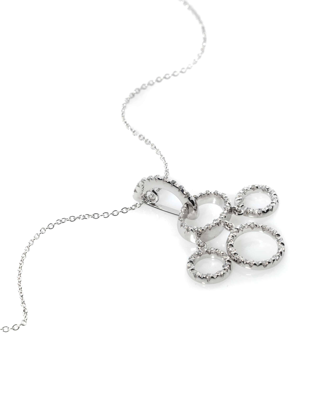 Roberto Coin 18k White Gold Diamond Statement Necklace 4000091AWCHX