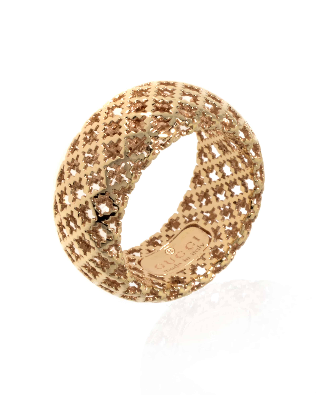 4c89ca860 Gucci Diamantissima 18k Yellow Gold Band Ring Size 7.   ShopWorn