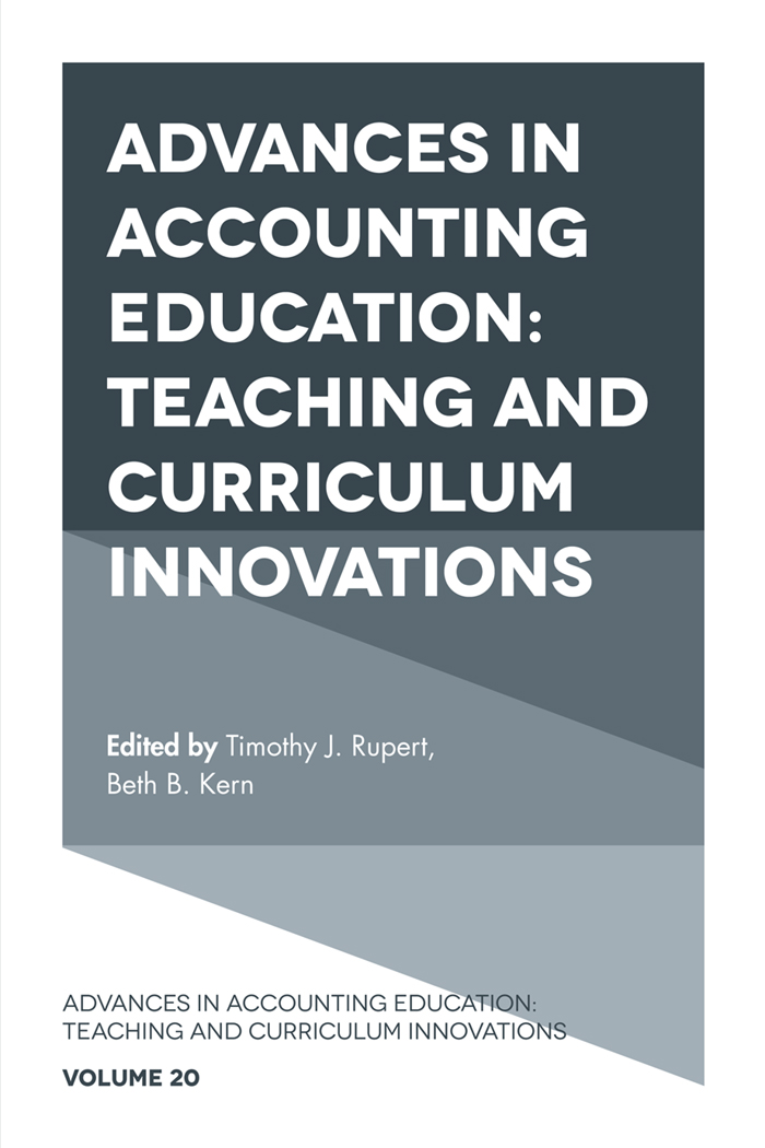 Book cover for Advances in Accounting Education:  Teaching and Curriculum Innovations a book by Beth B. Kern, Timothy J. Rupert