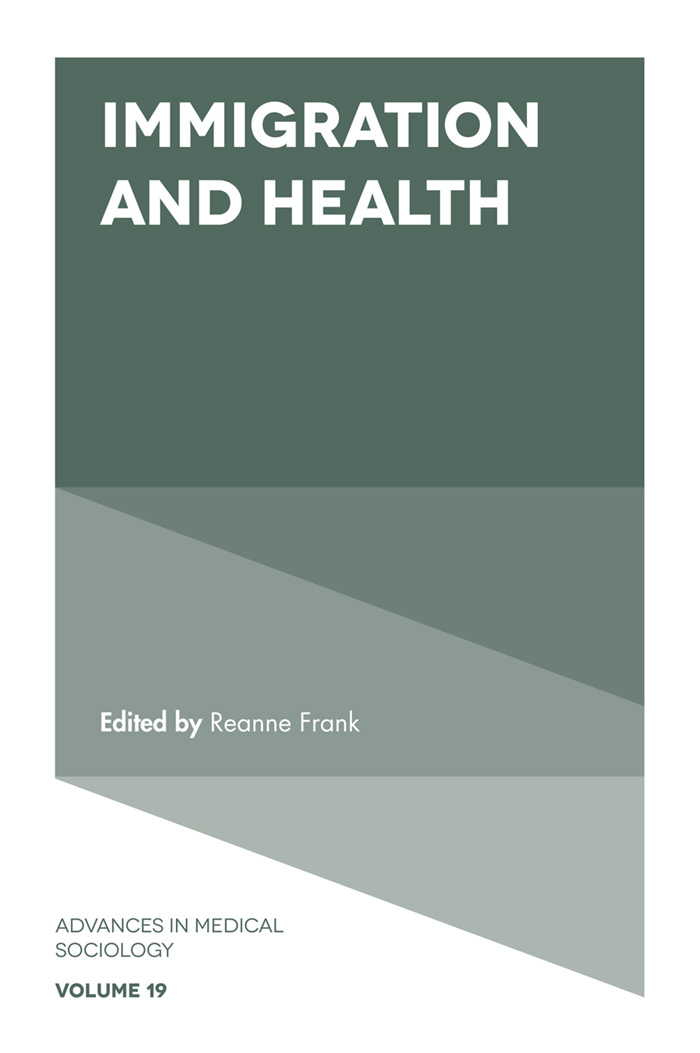 Book cover for Immigration and Health a book by Reanne Frank
