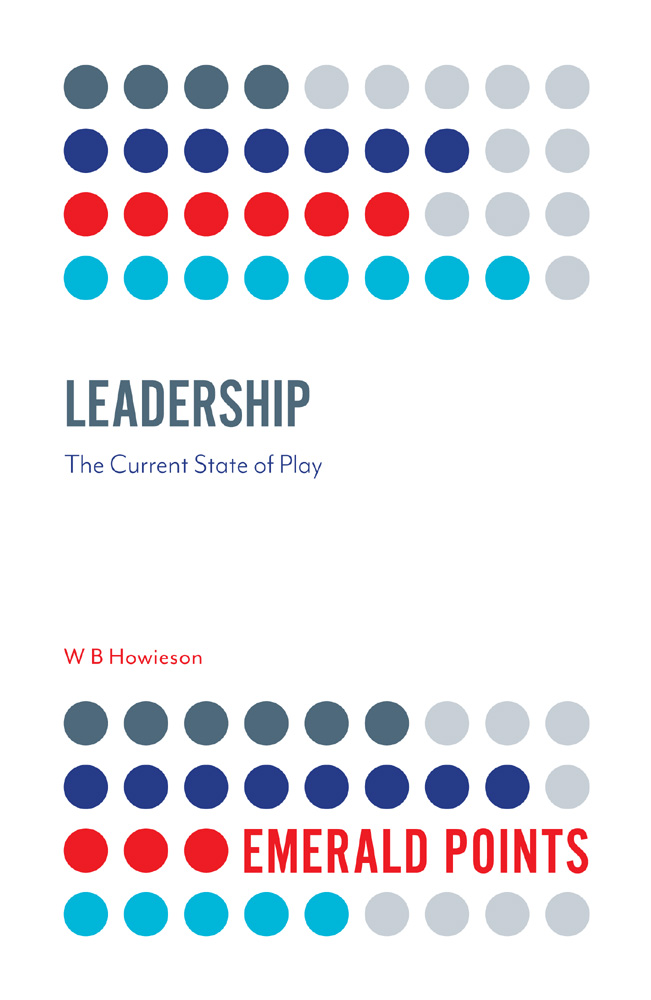Book cover for Leadership:  The Current State of Play a book by W. B. Howieson