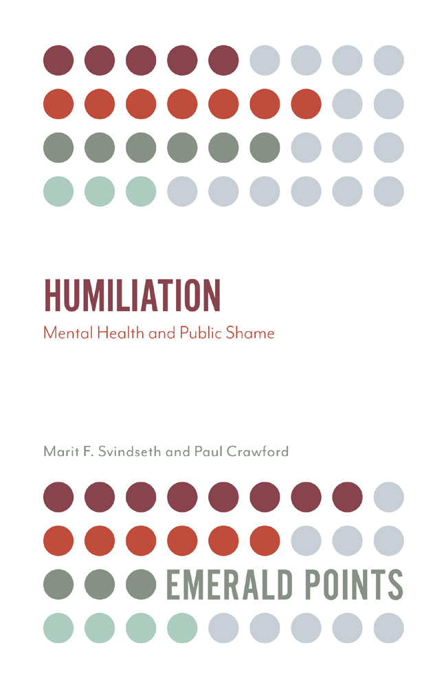Book cover for Humiliation:  Mental Health and Public Shame a book by Marit F. Svindseth, Paul Crawford