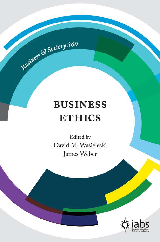 Book cover for Business Ethics a book by David M. Wasieleski, James  Weber