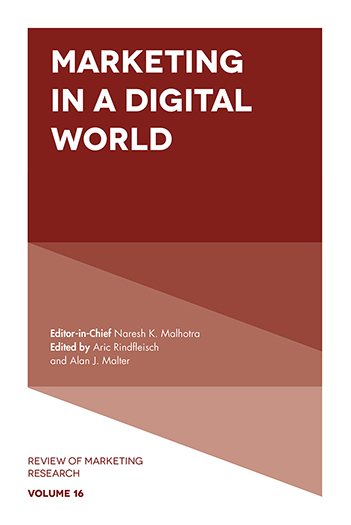 Book cover for Marketing in a Digital World a book by Alan J. Malter, Aric  Rindfleisch
