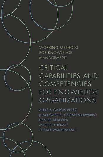 Book cover for Critical Capabilities and Competencies for Knowledge Organizations a book by Juan Cegarra Navarro, Alexeis  GarciaPerez, Susan  Wakabayashi, Denise  Bedford, Margo  Thomas