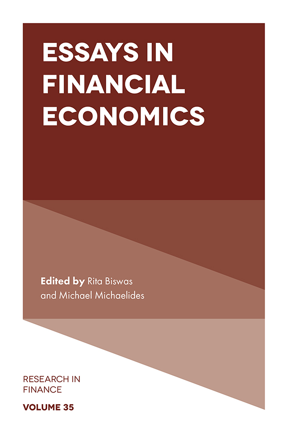 Book cover for Essays in Financial Economics a book by Rita  Biswas, Michael  Michaelides, John W. Kensinger