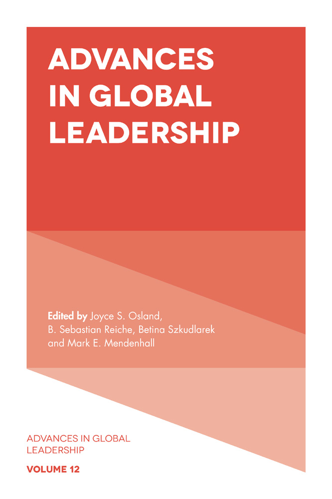 Book cover for Advances in Global Leadership a book by Joyce S. Osland, B. Sebastian Reiche, Betina  Szkudlarek, Mark E. Mendenhall