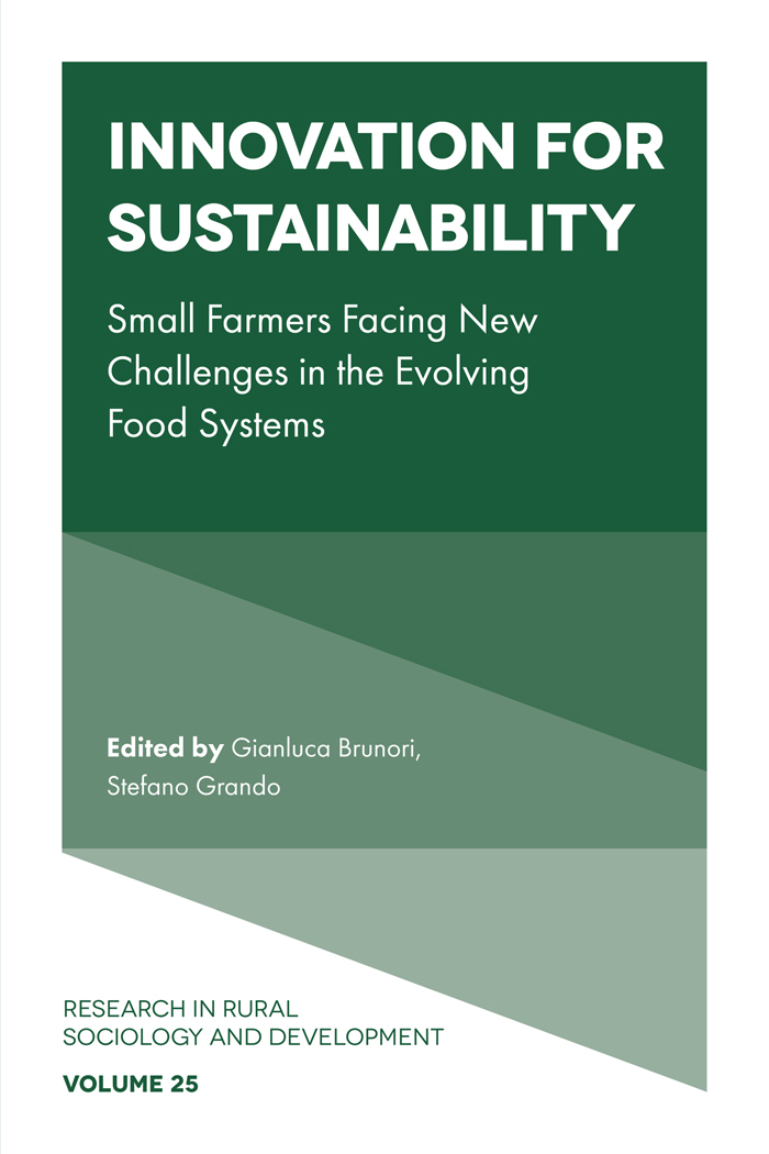 Book cover for Innovation for sustainability:  Small farmers facing new challenges in the evolving food systems a book by Dr Gianluca  Brunori, Dr Stefano  Grando