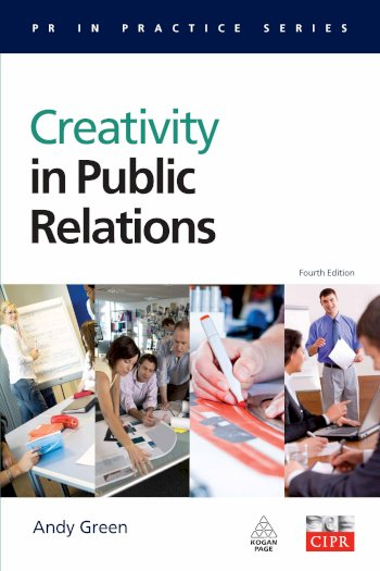 Book cover for Creativity in Public Relations a book by Andy  Green