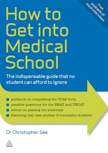 Book cover for How to Get Into Medical School:  The Indispensible Guide That No Student Can Afford to Ignore a book by Dr. Christopher  See