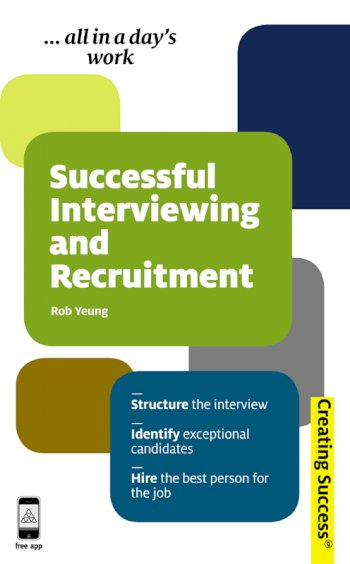 Book cover for Successful Interviewing and Recruitment a book by Rob  Yeung