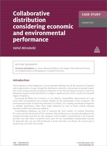 Book cover for Case Study:  Collaborative Distribution Considering Economic and Environmental Performance a book by Vahid  Mirzabeiki