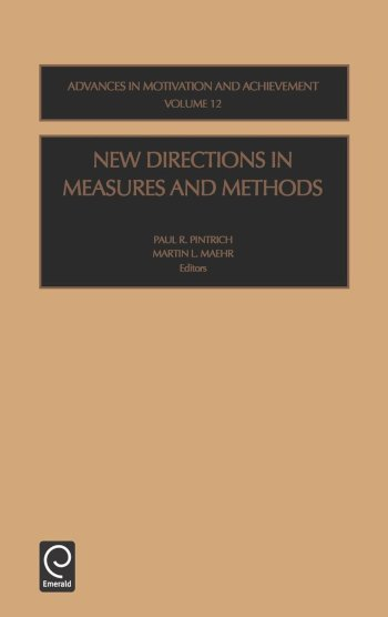 Book cover for New Directions in Measures and Methods a book by P.R.  Pintrich, M.L.  Maehr