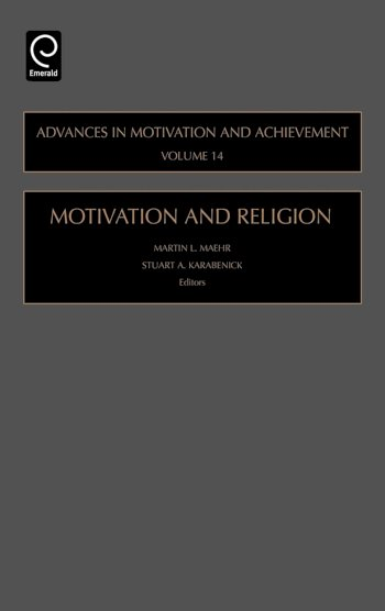 Book cover for Motivation and Religion a book by Martin L. Maehr, Stuart A. Karabenick