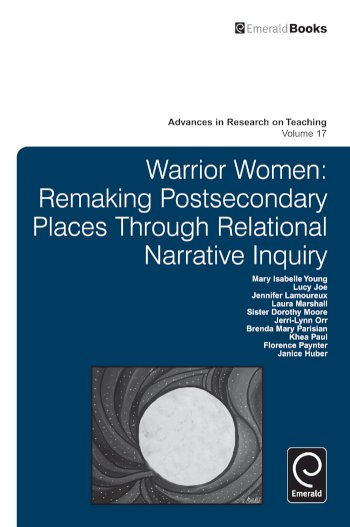 Book cover for Warrior Women:  Remaking Post-Secondary Places Through Relational Narrative Inquiry a book by Mary Isabelle Young, Florence  Paynter, Khea  Paul, Brenda Mary Parisian, JerriLynn  Orr, Sister Dorothy  Moore, Laura  Marshall, Jennifer  Lamoureux, Lucy  Joe, Janice  Huber