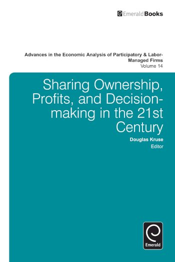 Book cover for Advances in the Economic Analysis of Participatory and Labor-Managed Firms a book by Doug  Kruse