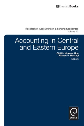 Book cover for Accounting in Central and Eastern Europe a book by Catalin  Albu, Razvan  Mustapa