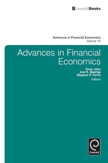Book cover for Advances in Financial Economics, a book by Kose  John, Anil K. Makhija, Stephen P. Ferris