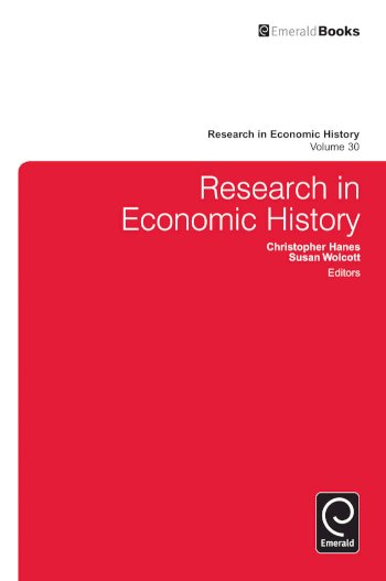 Book cover for Research in Economic History a book by Christopher  Hanes, Susan  Wolcott