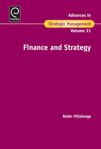 Book cover for Finance and Strategy a book by Belen  Villalonga