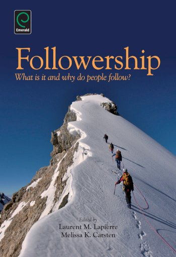 Book cover for Followership:  What is it and Why Do People Follow? a book by Laurent M. Lapierre, Melissa K. Carsten