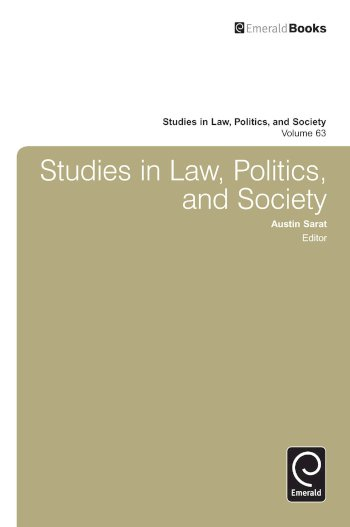 Book cover for Studies in Law, Politics and Society a book by Austin  Sarat