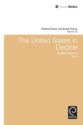 Book cover for The United States in Decline a book by Richard  Lachmann