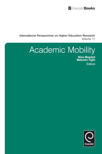 Book cover for Academic Mobility a book by Malcolm  Tight, Nina  Maadad
