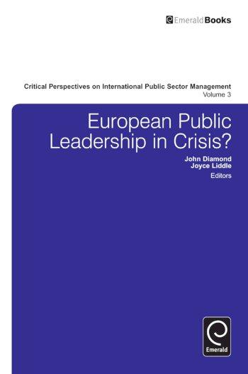 Book cover for European Public Leadership in Crisis? a book by John  Diamond, Joyce  Liddle