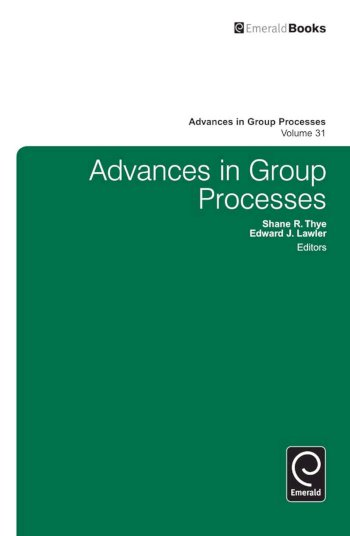 Book cover for Advances in Group Processes a book by Shane R. Thye, Edward J. Lawler