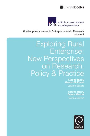 Book cover for Exploring Rural Enterprise:  New Perspectives on Research, Policy & Practice a book by Colette  Henry, Gerard  McElwee