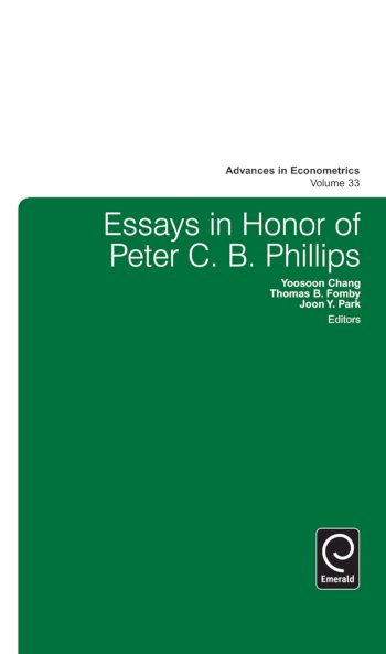 Book cover for Essays in Honor of Peter C B Phillips a book by Thomas B. Fomby, Yoosoon  Chang, Joon Y. Park