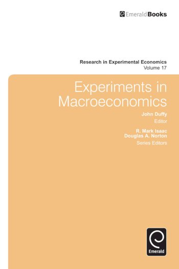 Book cover for Experiments in Macroeconomics a book by John  Duffy
