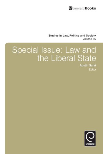 Book cover for Special Issue:  Law and the Liberal State a book by Austin  Sarat